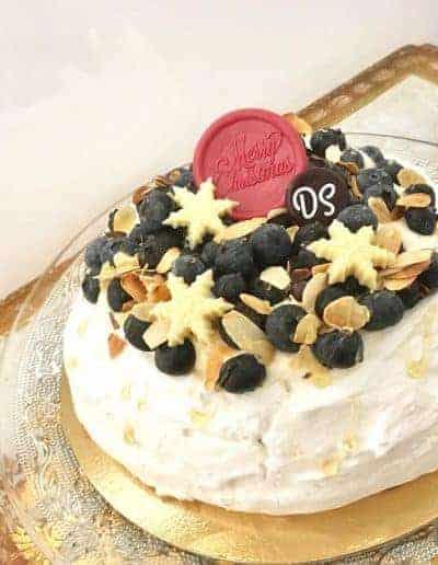 Desserttaart voor kerst 2017 gemaakt door DS Patisserie in Den Haag.