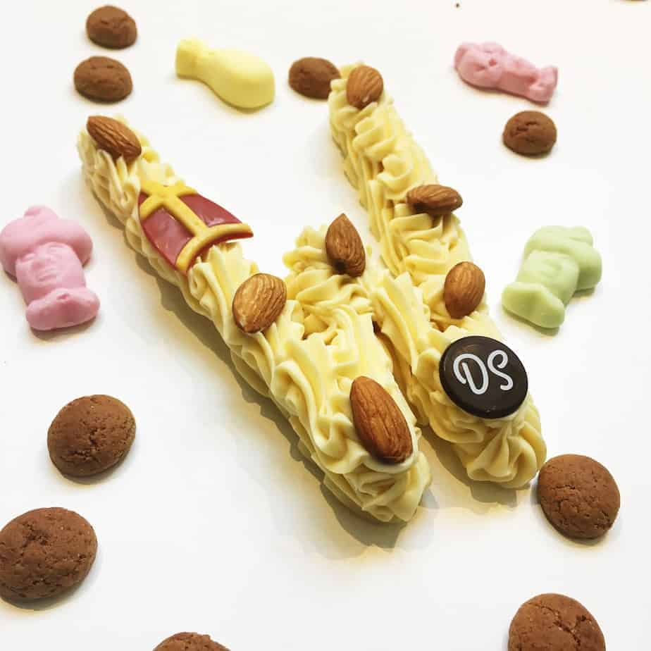 Chocoladeletter wit DS Patisserie