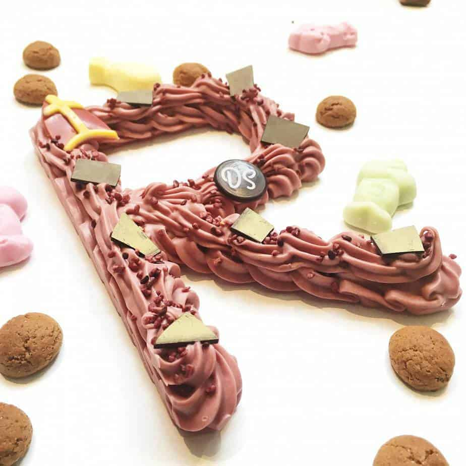Chocoladeletter ruby DS Patisserie