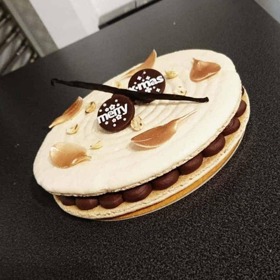 Kerstdessert dessertmacaron DS Patisserie