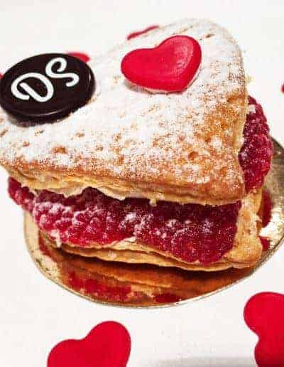 Valentijns millefeuille door DS Patisserie.