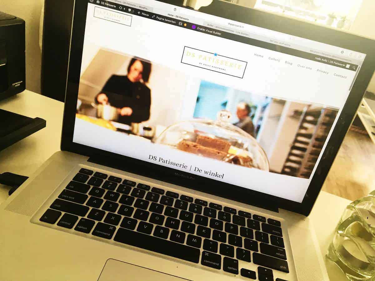 Nieuwe website DS Patisserie.